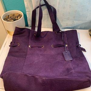 Neiman Marcus purple tote